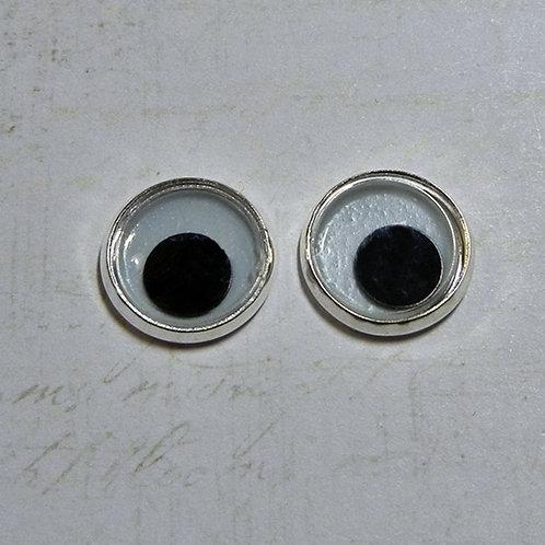 Glow Wiggle Eyes (1 pr) silver back