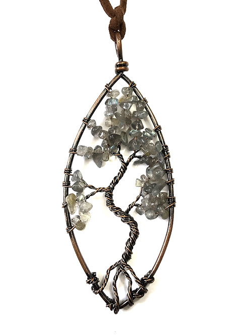 AB Tree Of Life Stone Necklace