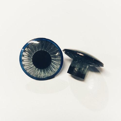 Blue Vintage Owl Eye  (5 pairs) (NO wshrs)