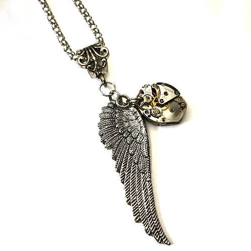 Angel Wing Steampunk  Necklace