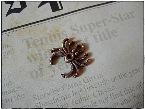 Copper Color Spider Charm 10pcs