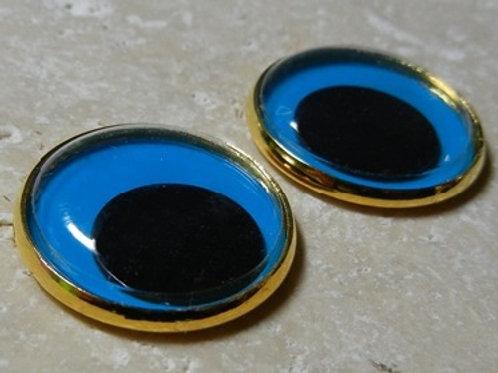 22mm blue wiggle (1pr)