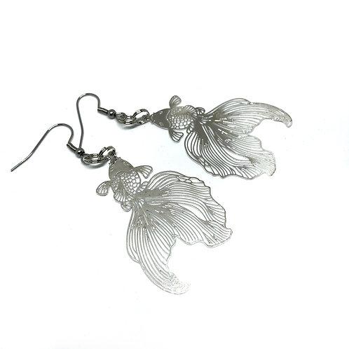 Silver Goldfish Earrings