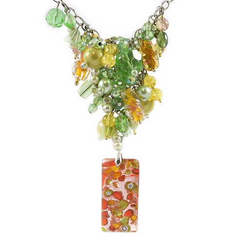 Tropical Murano Y Necklace