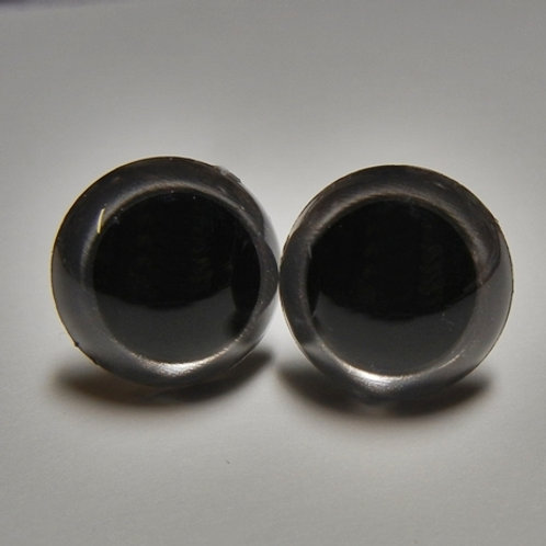 Dark Silver Pearl Animal Eyes (1 pair)