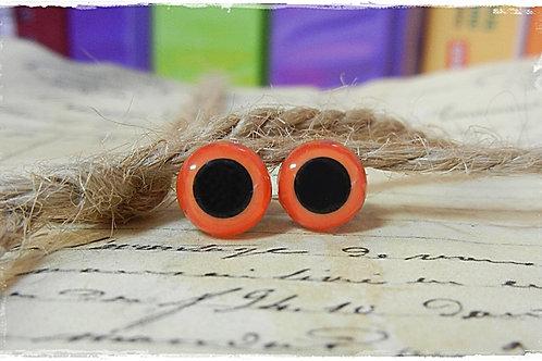Orange Animal Eyes (5 pairs)
