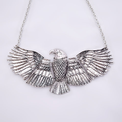 Silver Eagle Choker Necklace