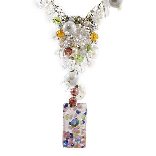 Spring Day Murano Y Necklace