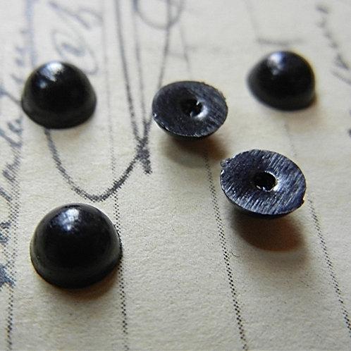 Black half bead eyes 5mm (5 pairs)
