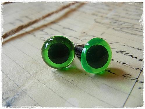 New Green Animal Eyes (5 pairs)