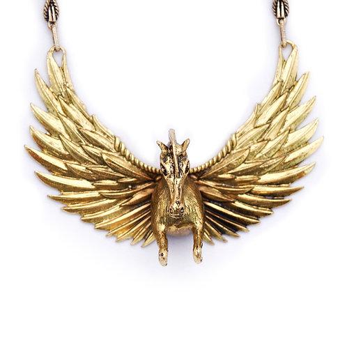 Gold Pegasus  Choker Necklace