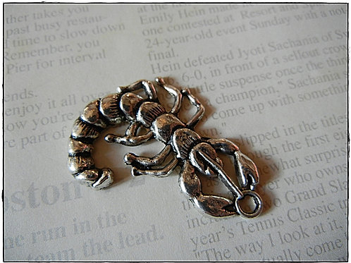 Silver Scorpion Charm 10pcs