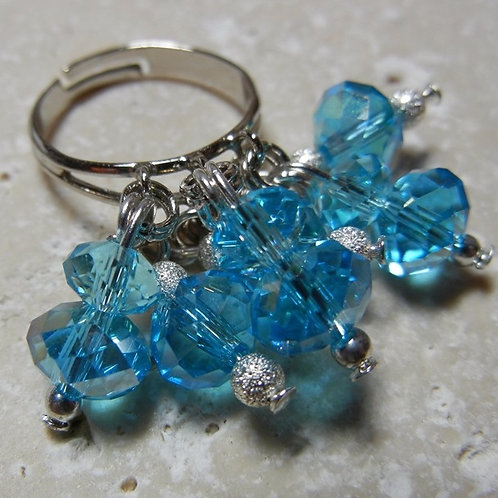 Turquoise Blue Dangle Ring