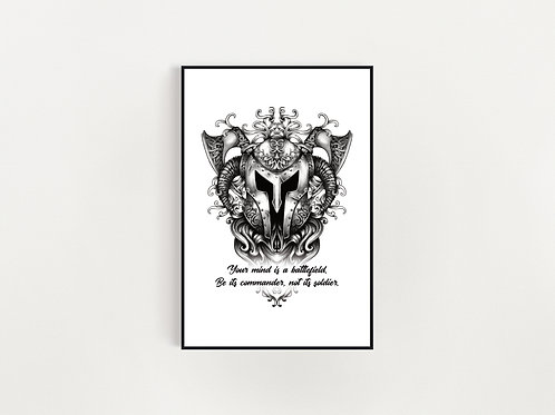 Your Mind Is A Battlefield Print
