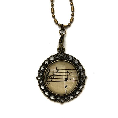 1893 I Vintage Sheet Music Necklace