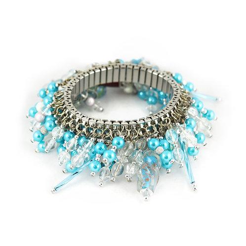 Turquoise Blue Beaded Cha Bracelet cha002