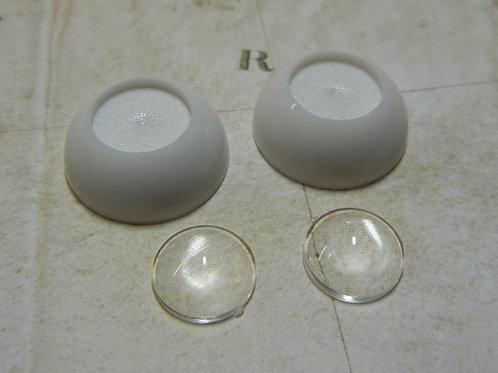 DIY 16mm Eyes -CLEAR LENS 1 pair