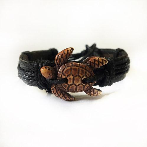 Leather Sea Turtle Bracelet
