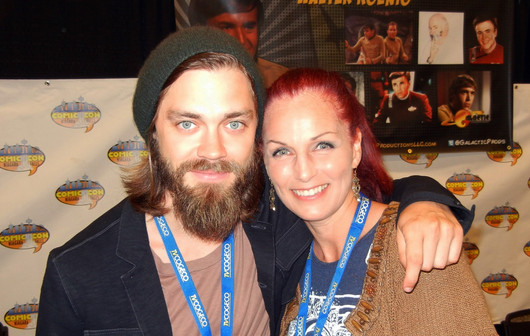 With Tom Payne (Jesus on Walking Dead)