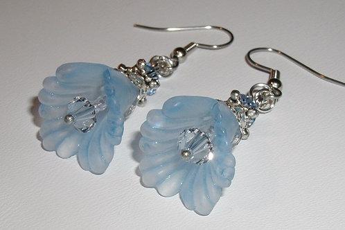 Blue Bell Flower Earrings