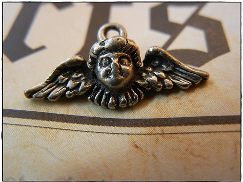 Silver Angel  Charm 10pcs