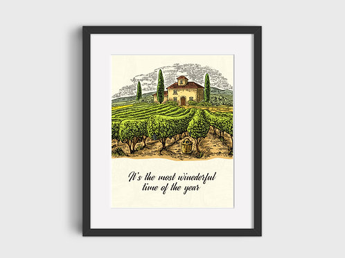 It's The Most Winederful Time Of The Year  Print