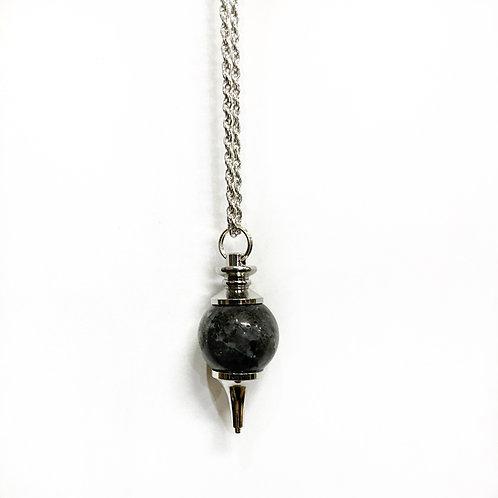 Black Laborite Ball  Necklace