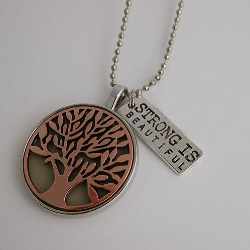 Bronze Tree of Life Glowing Necklace