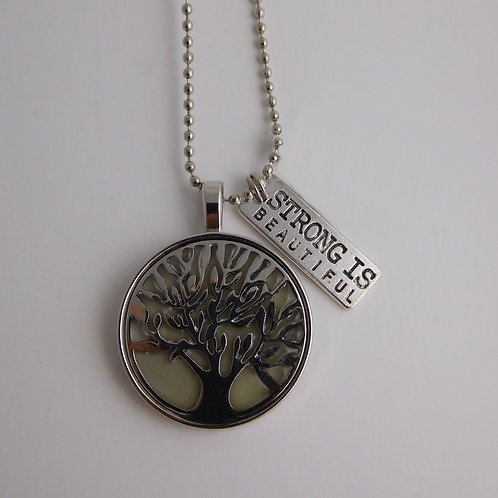 Silver Tree of Life Glowing Necklace