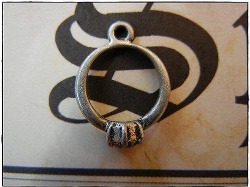 Wedding Engagement Ring Charm 10pcs