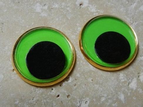 22mm green wiggle (1pr)
