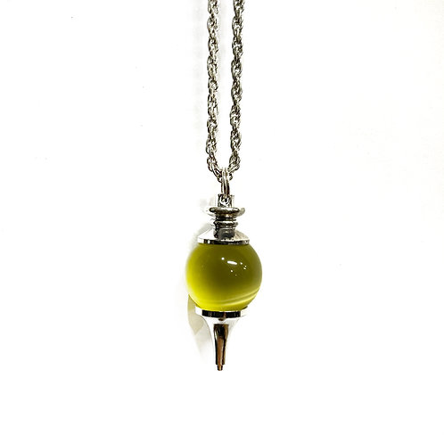 Yellow Tiger Eye Ball  Necklace