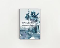 Knight print series