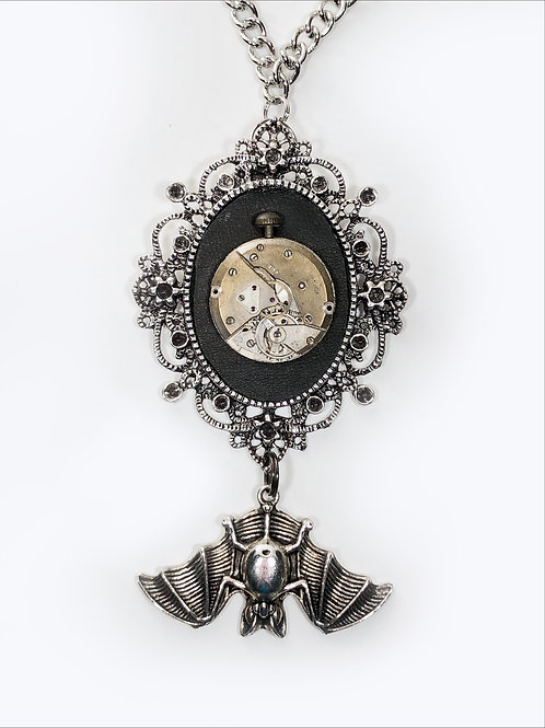 The Sleeping Bat Steampunk Necklace