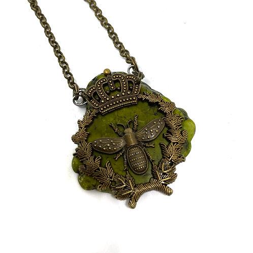 Queen Bee Stone Necklace