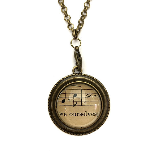 1893 We Ourselves Vintage Sheet Music Necklace