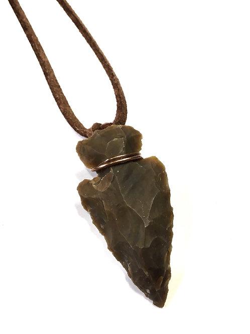 Arrowhead Nature Stone Necklace