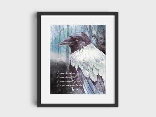 I am broken...  Raven Print