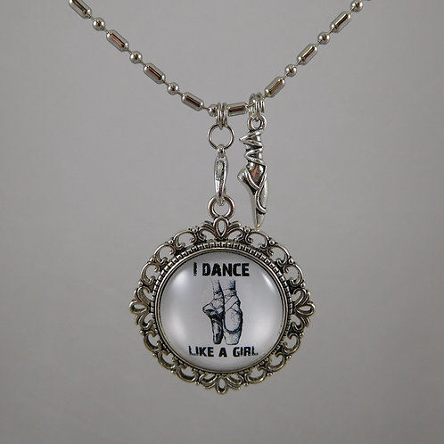 I Dance Like A Girl  Ballet Necklace