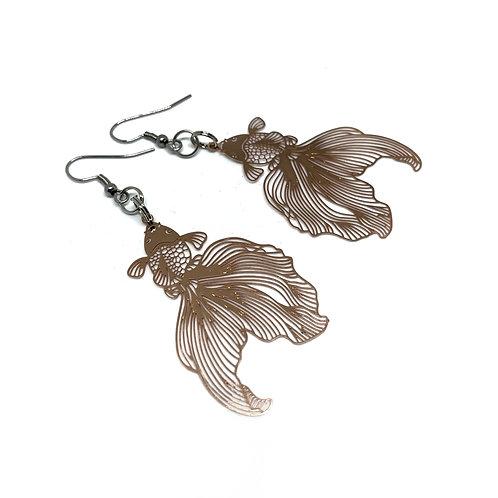 Bronze Goldfish Earrings