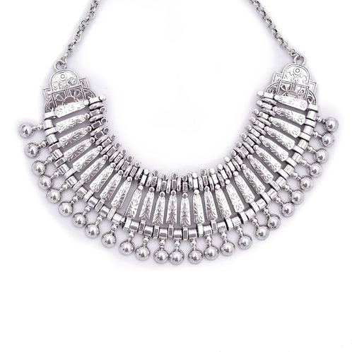 Silver collar Statement Necklace