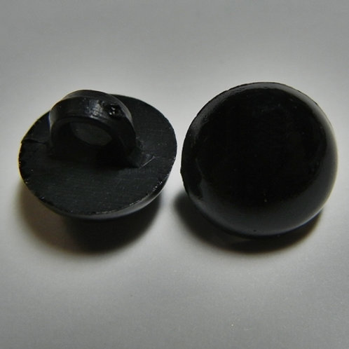 Black sew on dome eyes  (5 pairs)