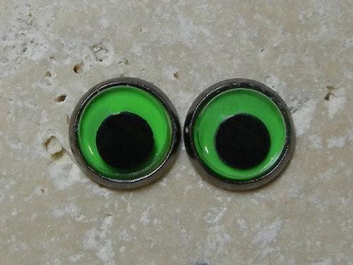 12mm green wiggle (1pr)