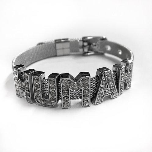 HUMAN silver Bracelet