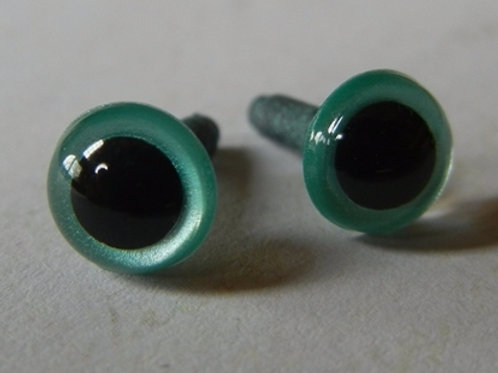 Aqua Pearl Animal Eyes (5 pairs)