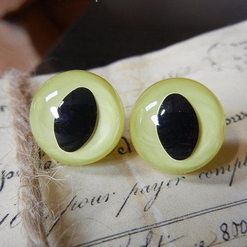 Yellow Pearl Cat Eyes (5 pairs)