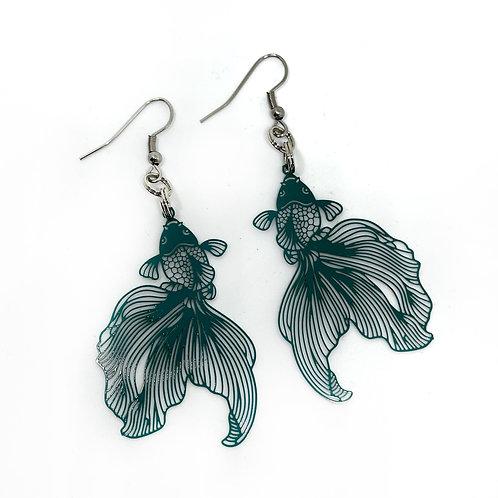 Turquoise Goldfish Earrings
