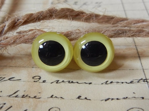 Yellow Pearl Animal Eyes (5 pairs)