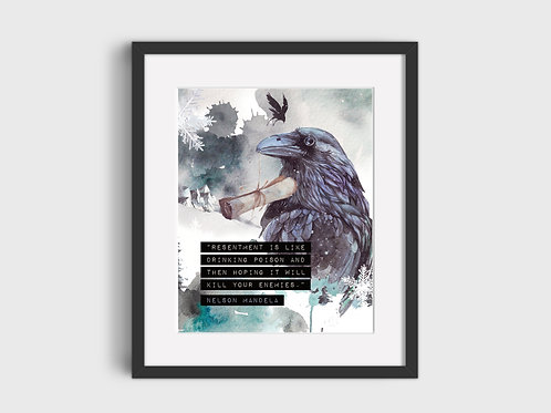 Resentment...  Raven Print