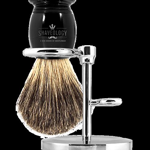 Silver Tip Shaving Brush & Stand